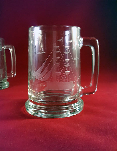 Etched Clipper Ship Drinking Mugs  S/4 - The Other Alley