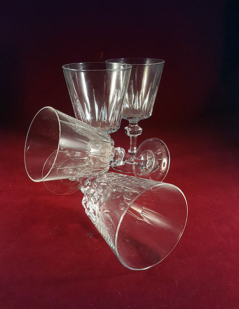 Set of 4 Crystal Wine Glasses/Goblets  S/4 - The Other Alley