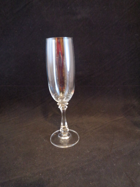 Crystal Flutes Faceted Stems  S/2 - The Other Alley