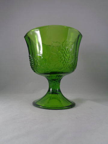 Depression Glass Green Compote Bowl