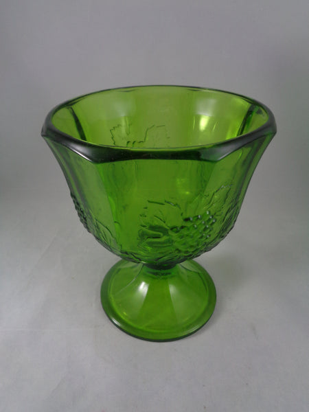 Depression Glass Green Compote Bowl - The Other Alley
