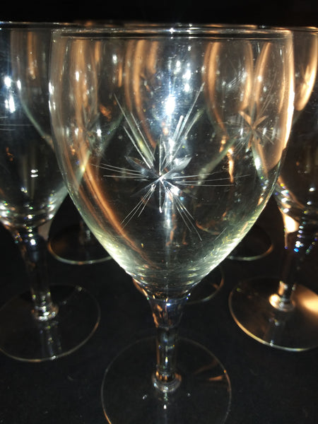 Cut Javit Star Stemware  S/8 - The Other Alley