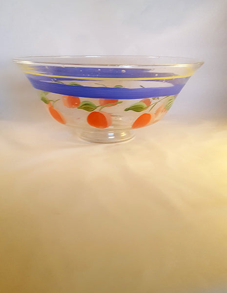 Hand Painted Gabbay by Gibson Cherries Serving Bowl - The Other Alley