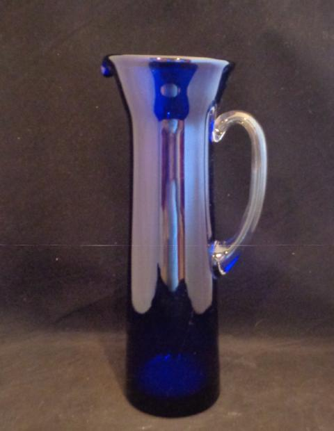 Tall Slender Cobalt Blue Pitcher - The Other Alley