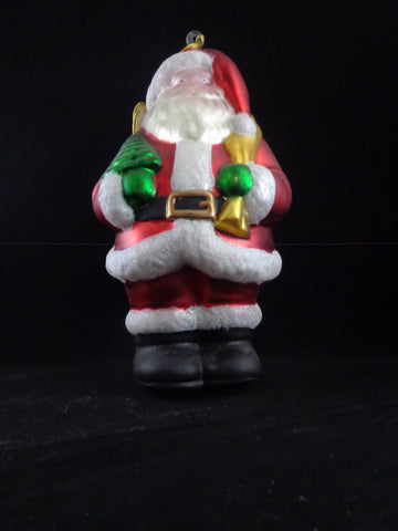 Large Mercury Glass Santa Ornament - The Other Alley