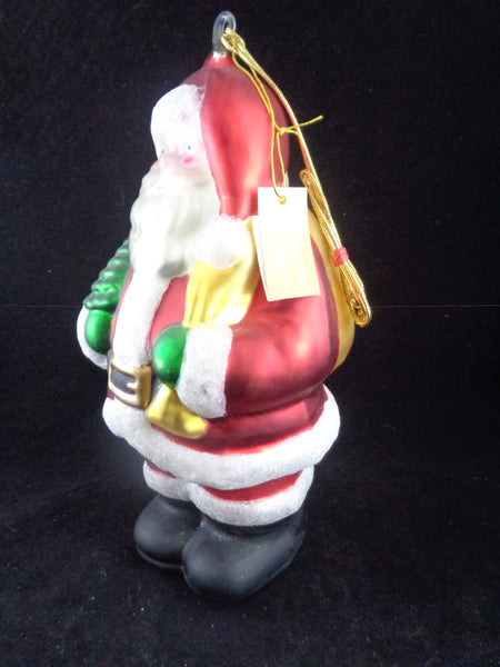 Large Mercury Glass Santa Ornament