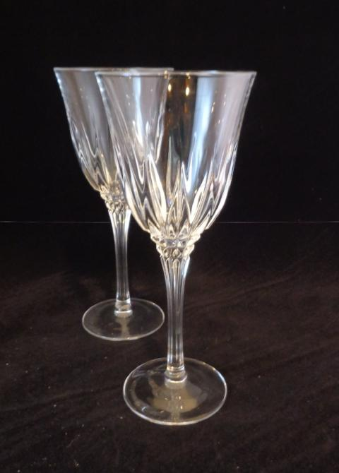 Tall Lead Crystal Goblets  S/2