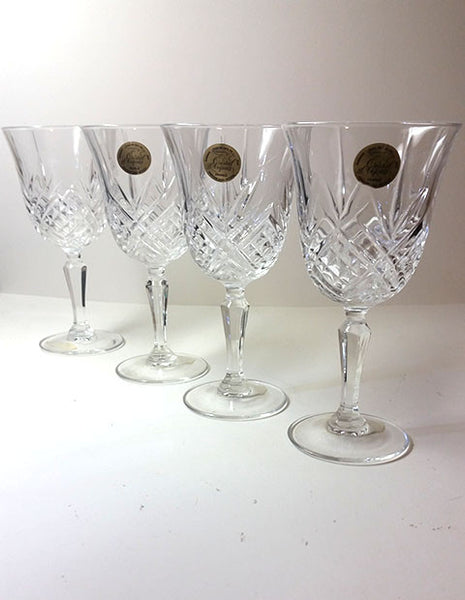 Arc International Cristal d'Arques Masquerade Diamax Stemware Glass, S/4