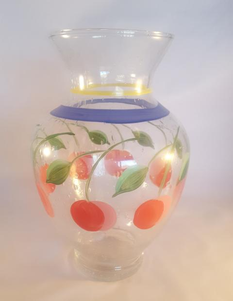 Hand Painted Gabbay by Gibson Carafe  /  Vase - The Other Alley