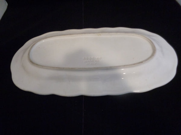 Italy Leaf Oval Platter Vietri Foglia Leonardo - The Other Alley