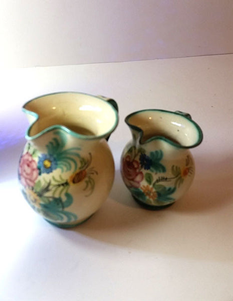 Two Signed Vanro Italy Pitchers - The Other Alley