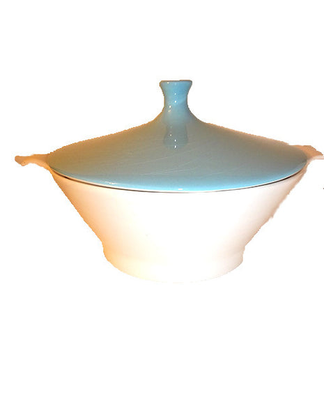 Serving Bowl with Aqua Lid