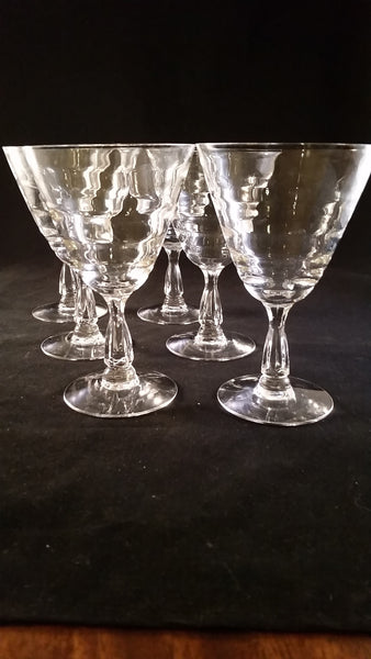 Flared Stemware with Ripples  S/5 - The Other Alley
