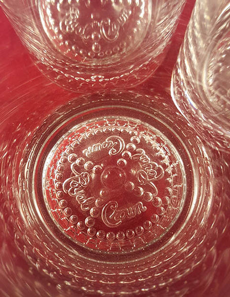 Set of 3 Crown Royal Embossed Rocks Glasses - The Other Alley