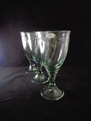 Noritake Sweet Swirl Light Green Goblets  S/3