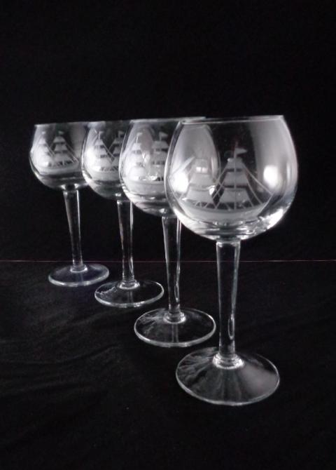 Cordial Glasses With Schooner  S/5 - The Other Alley