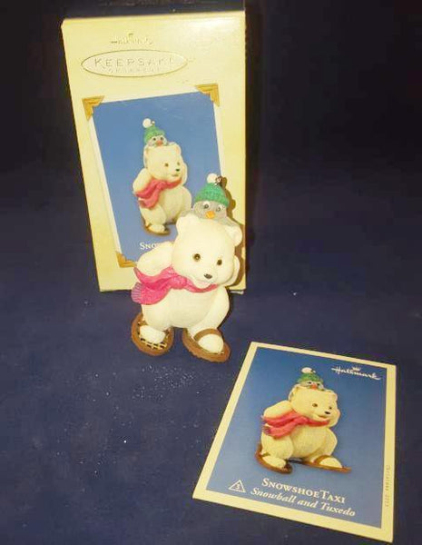 Hallmark Keepsake Ornaments  1973 -2003 Snow Buddies & Snow Shoe Taxi Bear - The Other Alley