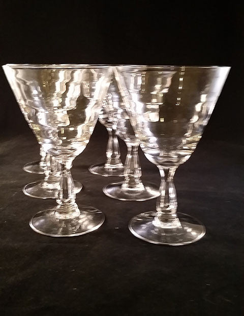 Flared Stemware with Ripples  S/6 - The Other Alley
