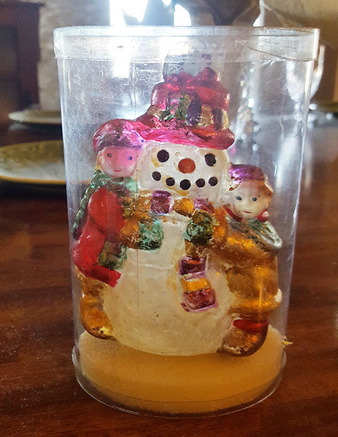 Glass Snowman Christmas Tree Ornament - The Other Alley