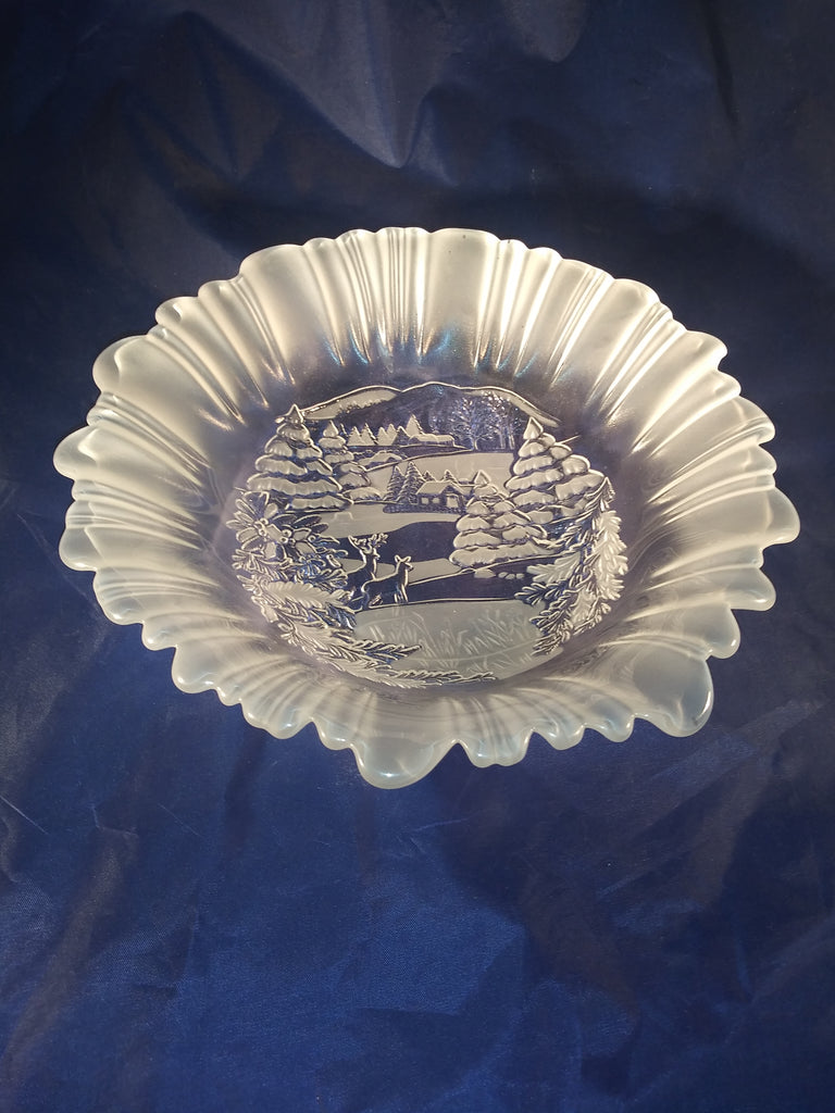 "Frosted Mikasa ""Winter Dreams"" Serving Bowl - The Other Alley"