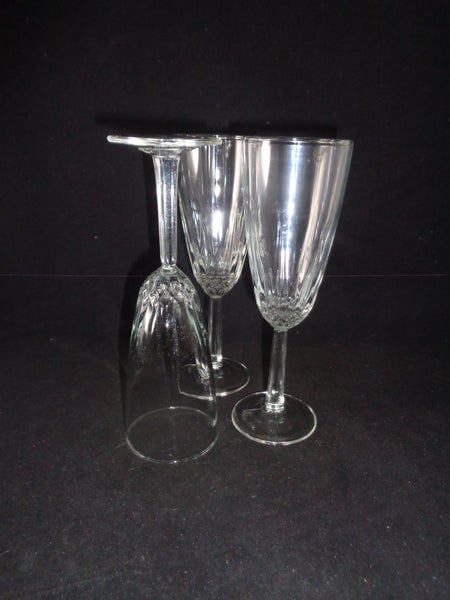 Flutes With Faceted Stem  S/3 - The Other Alley