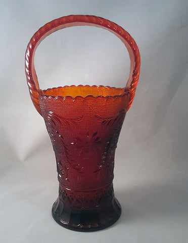 Art Glass Vase Orange with Handle - The Other Alley