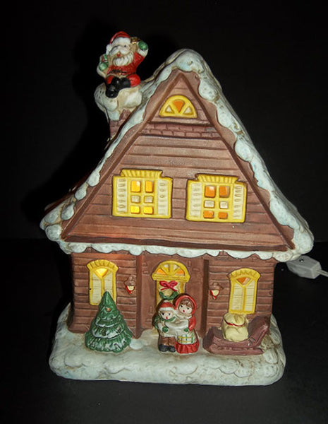 Vintage Lighted Christmas Cottage - The Other Alley