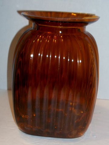 Clear Brown Floor Vase - The Other Alley