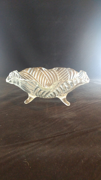 Pressed Glass Bowl Swirl Design