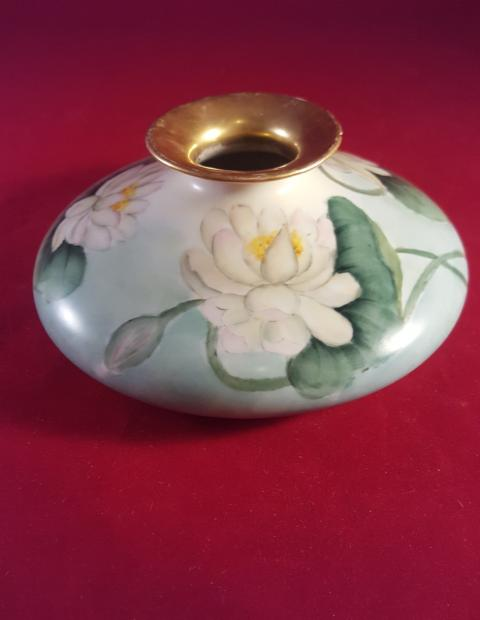 Faux Limoges Styled Squat Vase - The Other Alley