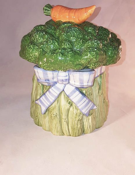 Fitz And Floyd Gardening Bouquet Broccoli Canister