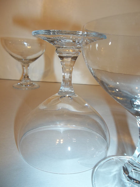 Short Stemmed Crystal Coupe Glasses - The Other Alley