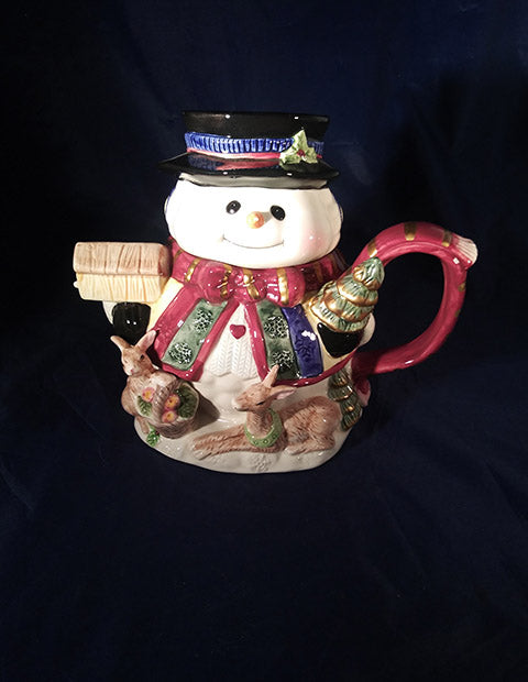 Snowman Tea Pot - The Other Alley