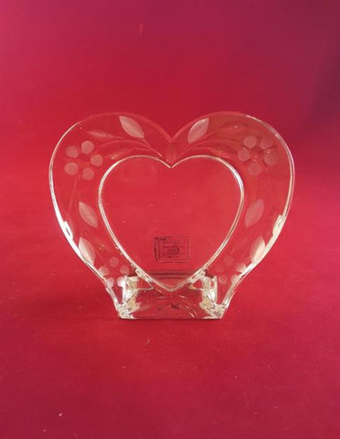 24 % Lead Crystal Heart Picture Frame - The Other Alley