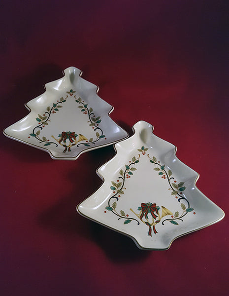 Mikasa Christmas Tree Dish  Set of 2 - The Other Alley