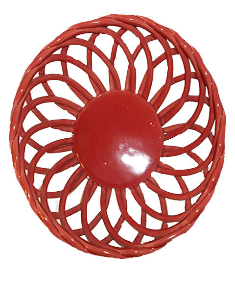 Salmon Colored Lattice Bowl FREE SHIPPING ALL ORDERS - The Other Alley