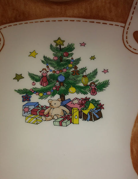 Nikko Porcelain Bear Christmas Platter - The Other Alley