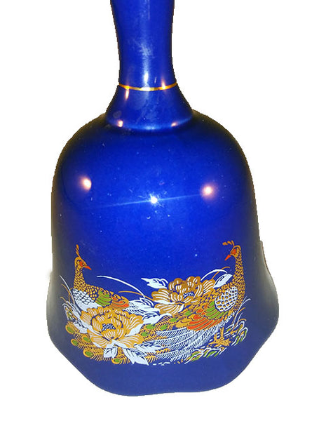 Cobalt Blue Bell With Peacocks - The Other Alley