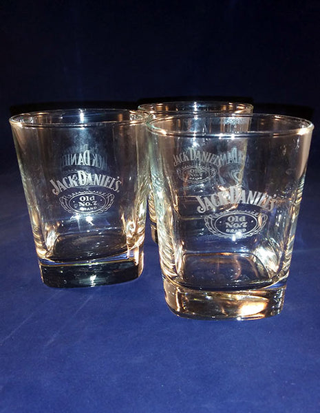 Etched Jack Daniels Old No. 7 Glasses S/3 - The Other Alley