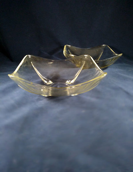 Anchor Hocking Vintage Clear Square Nut/Candy Dishes - The Other Alley