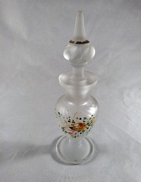 Frosted Perfume Bottle Hand Painted - The Other Alley
