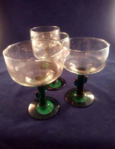 LIBBEY CACTUS STEM MARGARITA GLASSES 3 + 1 FREE - The Other Alley