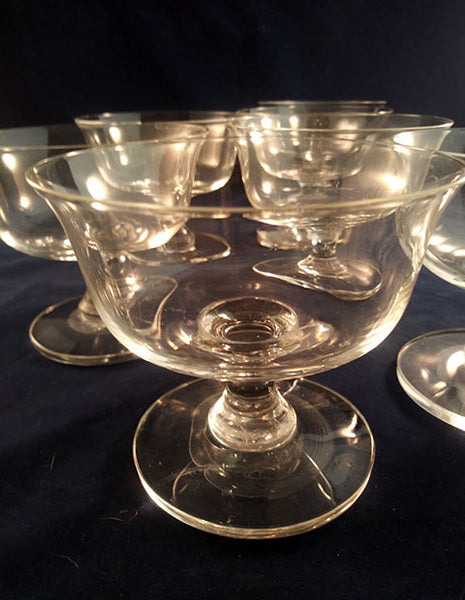 Lead Crystal Dessert Coupes  S/7
