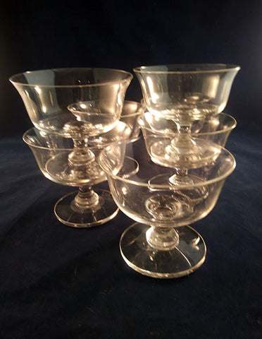 Lead Crystal Dessert Coupes  S/7 - The Other Alley