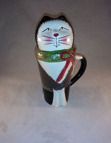 Sakura Christmas Cat Mug W/Lid - The Other Alley