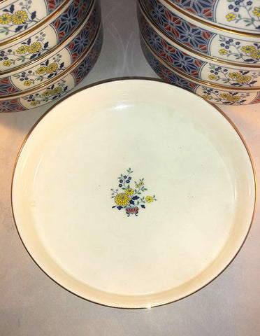 Noritake Cathay Blue And Yellow Flowers, Large Coupes, Bowl - The Other Alley