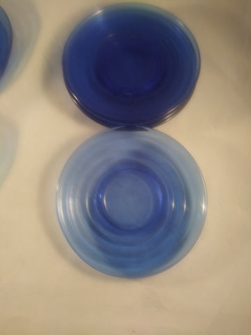 Translucent Cobalt Blue Saucers - The Other Alley