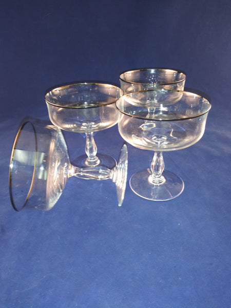 Crystal Champagne/Dessert Coupes Platinum Rims - The Other Alley
