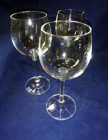 3 Crystal Wine Glasses - The Other Alley