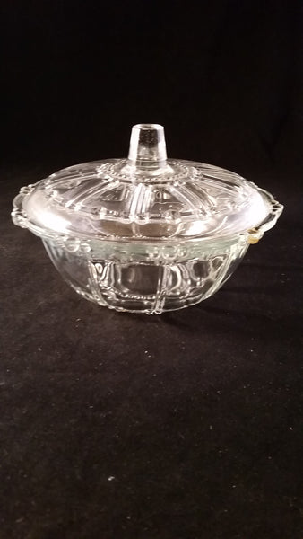 KIG Oyster Pearl Clear Candy Dish w/Lid - The Other Alley
